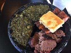two meat plate...yes, that's two collards...better 'en Grannie's