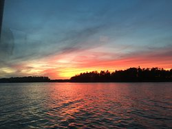 Sunset over Flying Point
