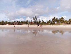 Foto de Guaibim, local maravilhoso, de águas limpas e quentinhas, areia branca e fina.