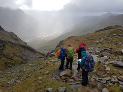 Final day of 2 night expedition. Happy to be heading down after sleeping high through storm Hannah.