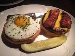 Single Cheeseburger with Egg and Bacon