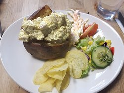 Generous portion jacket potato