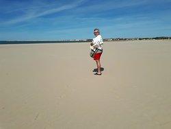 Playa muy ancha