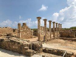 Säulenkolonnade beim Haus des Aion