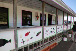 Painted fish outside