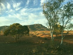 Rawnsley Bluff near sunset at the Woolshed Restaurant