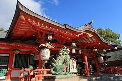 拝殿の大きな屋根