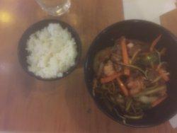 Mongolian BBQ and Rice, Veniz Grill