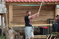 Axe Throwing (double handed)