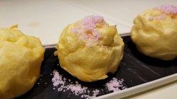 Deep Fried Souffle with Taro Ice Cream