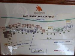 Plan des bungalows