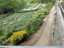 The Italian garden.