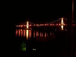 hudson bridge view