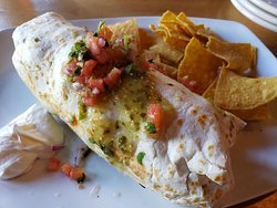 The burrito entree from brunch menu
