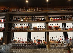 LARGE selection of bourbon and whiskey.
