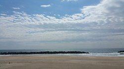 砂浜でのんびり