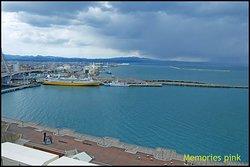 ภาพมุมสูงของAomori Port