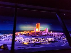 Architectural model of Progress City, the prototype for Epcot
