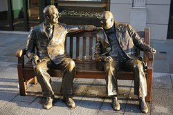 Allies Statue - Franklin D. Roosevelt and Winston Churchill