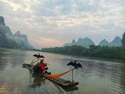 Li-river in the morning .