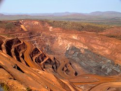Mountain Tom Price Mine - Rio Tinto Company, Tom Price - once this was a mountain 200 f high! :)