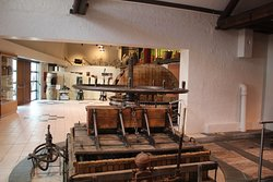 Antique wine press used to make champagne.