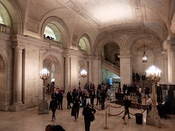 The Grand entrance of the NY Public library
