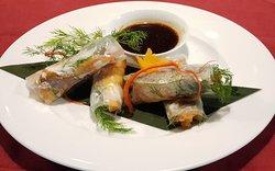 Fish summer rolls