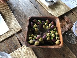 Nice olives as a starter