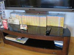 一階にある視聴覚資料 65巻を超えるブルーレイディスク