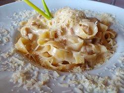 pasta with hribi