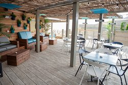 The restaurant's quirky modern interior is always a hit, but if you'd rather enjoy the fresh sea air our outdoor decking is the perfect place to enjoy al fresco dining in style.