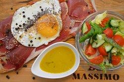 Tosta with serrano ham