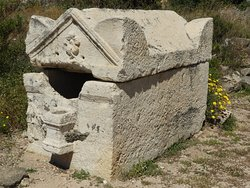 A looted sarcophagus