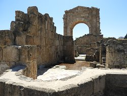 A Byzantine church took the place of an ancient funerary temple