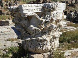 A Corinthian column in the residential part of Tyre