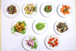 Vegetable sides selection for our Weekday Lunch Platter