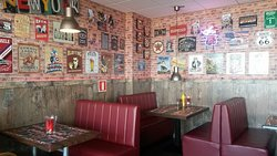 Authentic diner with booths
