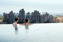 Infinity Pool in Shinhwa Jeju Shinhwa Woirld Hotels and Resorts