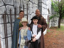 Family dressed for a day at the Castle