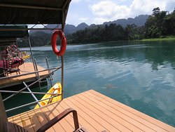 The Rainforest camp offering breathtaking views and each room came with a canoe so that you could explore Khao Sok National Park at your own pace.