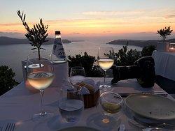 Cena al tramonto