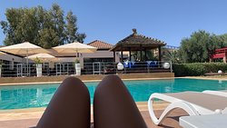 Beautiful pool and great food just off Marrakech