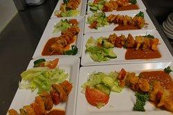 Saté (met wild vlees)