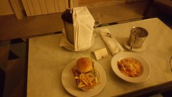 Room Service...Penne and Burger