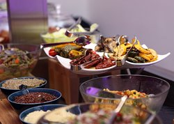 This is just a preview of some of the delicious options available at our ''Alwadi Tent'' this Holy season! ☪️  Visit Alwadi Hotel Doha MGallery to experience the magic of Ramadan with your family and friends, and enjoy a broad range of local and international delicacies prepared by the best Chefs...🍲  Operation Hours:  Iftar: Sunset till 08:30PM Suhoor: 09:30PM to 2AM  And for our non-fasting guests:  Le Colonial: 6AM to 11PM  You can also enjoy a coffee & special selection of oriental sweets a