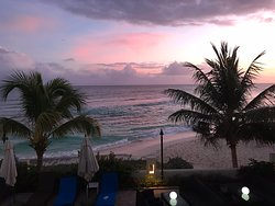 View from our room 203 at sunset