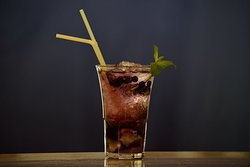 Blueberry mojito. At Habanera we have our own secrets to make cocktails special!