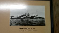 Photo of the HMAS Hobart, one of the 4 ships that my grand father served on in WWII.