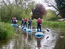 SUP / paddleboarding at Yarwell Mill